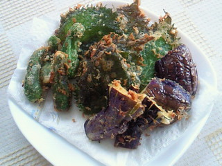 採りたて野菜で天ぷら
